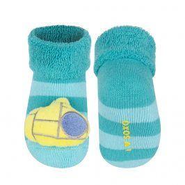 Ponožky s chrastítkem SOXO PONORKA tyrkysové Velikost: 16-18