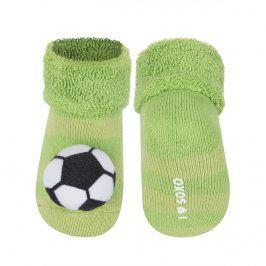 Ponožky s chrastítkem SOXO MÍČ zelené Velikost: 16-18