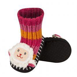 Pletené ponožky SOXO OVEČKA růžová Velikost: 19-21