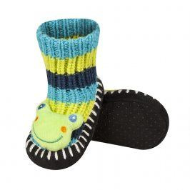 Pletené ponožky SOXO ŽABKA modré Velikost: 19-21