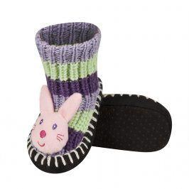 Pletené ponožky SOXO KRÁLÍČEK fialové Velikost: 19-21