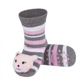 Ponožky s chrastítkem SOXO KOČIČKA šedé Velikost: 19-21