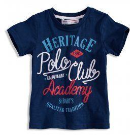 Chlapecké tričko s krátkým rukávem MINOTI POLO CLUB modré Velikost: 98-104