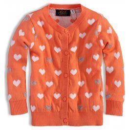 Dívčí svetr KNOT SO BAD SRDÍČKA oranžový Velikost: 92