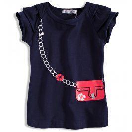 Dívčí tričko DIRKJE KABELKA tmavě modré Velikost: 80