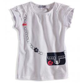 Dívčí tričko DIRKJE KABELKA bílé Velikost: 80
