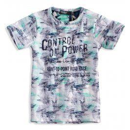 Kojenecké tričko s krátkým rukávem DIRKJE PALMY tyrkysové Velikost: 62