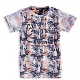 Kojenecké tričko s krátkým rukávem DIRKJE PALMY oranžové Velikost: 62