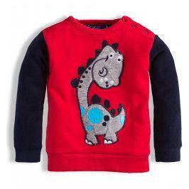 Dětská mikina KNOT SO BAD DINOSAURUS červená Velikost: 62