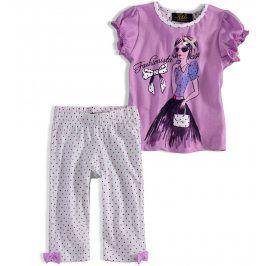 Dívčí pyžamo KNOT SO BAD HOLČIČKA fialové lila Velikost: 92