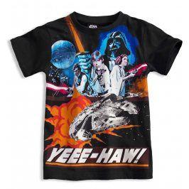 Tričko s krátkými rukávy Disney STAR WARS černé Velikost: 116