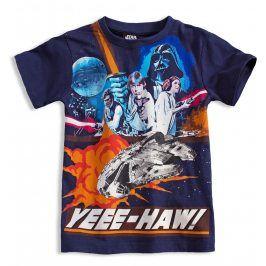 Tričko s krátkými rukávy Disney STAR WARS tmavě modré Velikost: 116