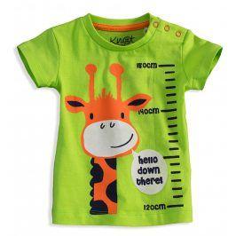 Dětské tričko s krátkým rukávem KNOT SO BAD ŽIRAFA zelené Velikost: 62