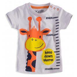 Dětské tričko s krátkým rukávem KNOT SO BAD ŽIRAFA bílé Velikost: 62