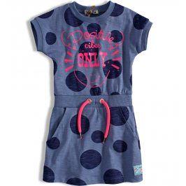Dívčí šaty DIRKJE PUNTÍKY modré Velikost: 92
