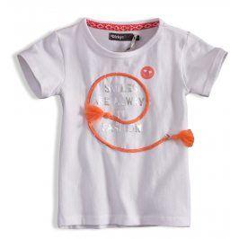 Dívčí tričko DIRKJE SMILES bílé Velikost: 92