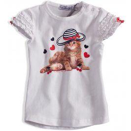 Dívčí tričko DIRKJE KOČIČKA bílé Velikost: 92