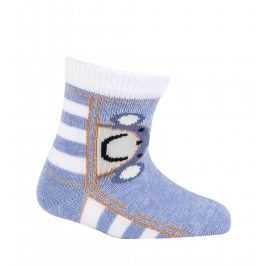 Chlapecké vzorované ponožky GATTA OPIČKA modré Velikost: 15-17