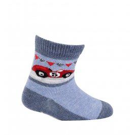 Chlapecké vzorované ponožky GATTA FORMULE modré Velikost: 15-17