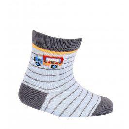 Chlapecké vzorované ponožky WOLA NÁKLAĎÁK světle modré Velikost: 15-17