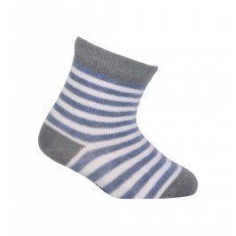 Chlapecké vzorované ponožky WOLA PROUŽKY bílé Velikost: 15-17