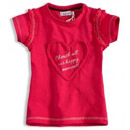 Dětské tričko DIRKJE SRDÍČKO růžové Velikost: 68