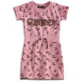 Dívčí šaty DIRKJE PALMY růžové Velikost: 116