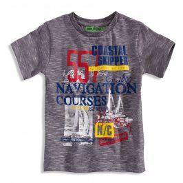 Chlapecké tričko s potiskem KNOT SO BAD SAILOR červené číslo Velikost: 92