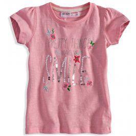 Dívčí tričko s flitry Minoti DITSY světle růžové Velikost: 80