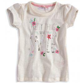 Dívčí tričko s flitry Minoti DITSY bílé Velikost: 80