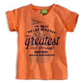 Kojenecké tričko PEBBLESTONE GREATEST oranžové Velikost: 68