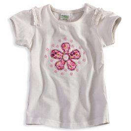 Dívčí tričko PEBBLESTONE KYTIČKA bílé Velikost: 68