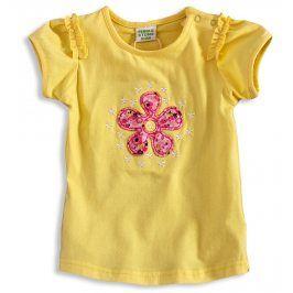 Dívčí tričko PEBBLESTONE KYTIČKA žluté Velikost: 68