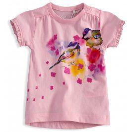 Dívčí tričko KNOT SO BAD BIRDS růžové Velikost: 62