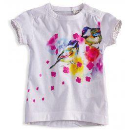 Dívčí tričko KNOT SO BAD BIRDS bílé Velikost: 62