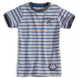Chlapecké triko s krátkým rukávem KNOT SO BAD VICTORIOUS modrý proužek Velikost: 152