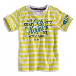 Chlapecké tričko s krátkým rukávem PEBBLESTONE LOS ANGELES žluté Velikost: 92-98