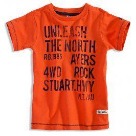 Chlapecké tričko s krátkým rukávem PEBBLESTONE NORTH oranžové Velikost: 110