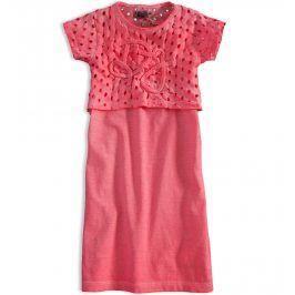 Dívčí šaty DIRKJE LOVE PINK růžové Velikost: 116