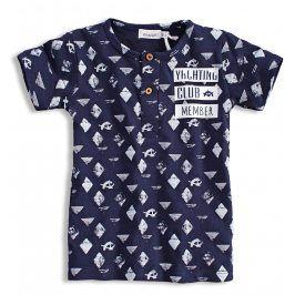 Dětské tričko s krátkým rukávem DIRKJE YACHTING tmavě modré Velikost: 86