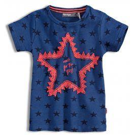 Dívčí tričko DIRKJE STARS modré Velikost: 98