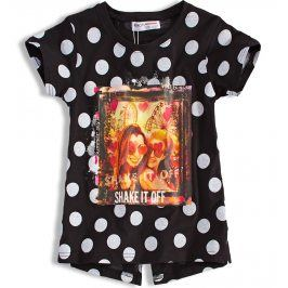 Dívčí tričko MINOTI SHAKE černé s puntíkem Velikost: 128-134