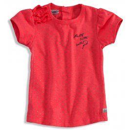 Dívčí tričko krátký rukáv DIRKJE BOLSA růžové Velikost: 98