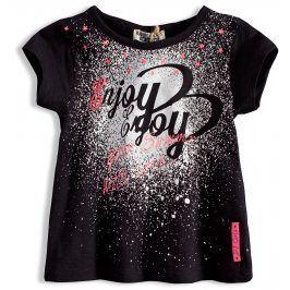 Dívčí tričko s krátkým rukávem DIRKJE ENJOY černé Velikost: 92