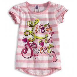 Dívčí tričko PEBBLESTONE SWEET růžové Velikost: 92-98