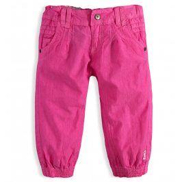 Dívčí plátěné capri kalhoty PEBBLESTONE ORIGINAL GIRLS růžové Velikost: 92-98