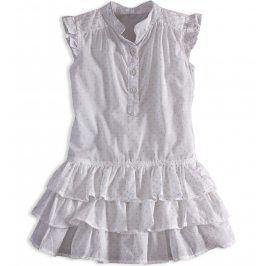 Dívčí letní šaty PEBBLESTONE GIRLS STAR bílé Velikost: 104