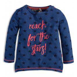 Dívčí triko s dlouhým rukávem DIRKJE STARS modré Velikost: 116