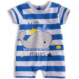 Letní kojenecký overal KNOT SO BAD WHALE světle modrý Velikost: 56