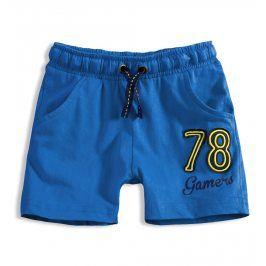 Chlapecké bavlněné šortky KNOT SO BAD GAMERS modré Velikost: 92